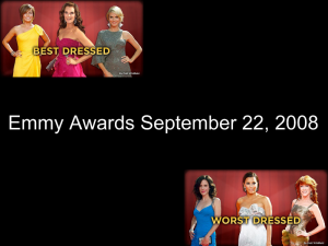 Emmy awards - Best and Worst Dressed.